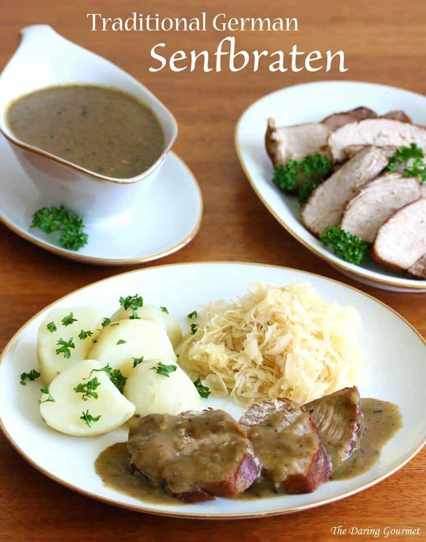 Traditional german senfbraten pork roast with mustard gravy the another quintessential german dish senfbraten is a traditional and popular pork roast served throughout germany a deliciously rich gravy flavored with forumfinder Choice Image