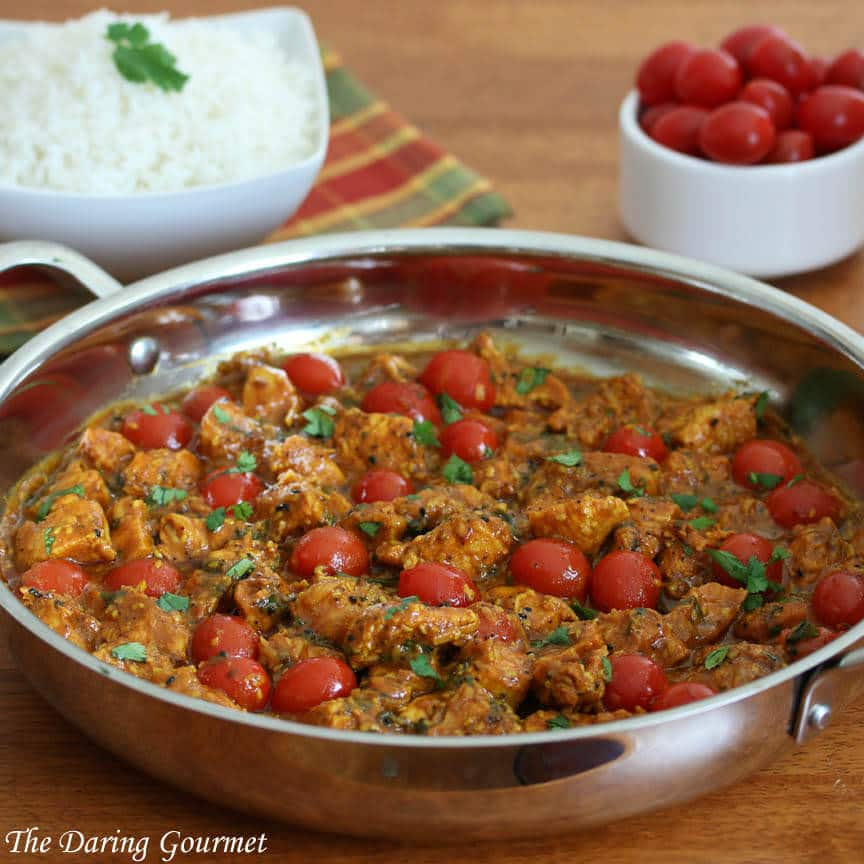 Indian Balti chicken recipe curry tomatoes coconut nigella kalonji seeds
