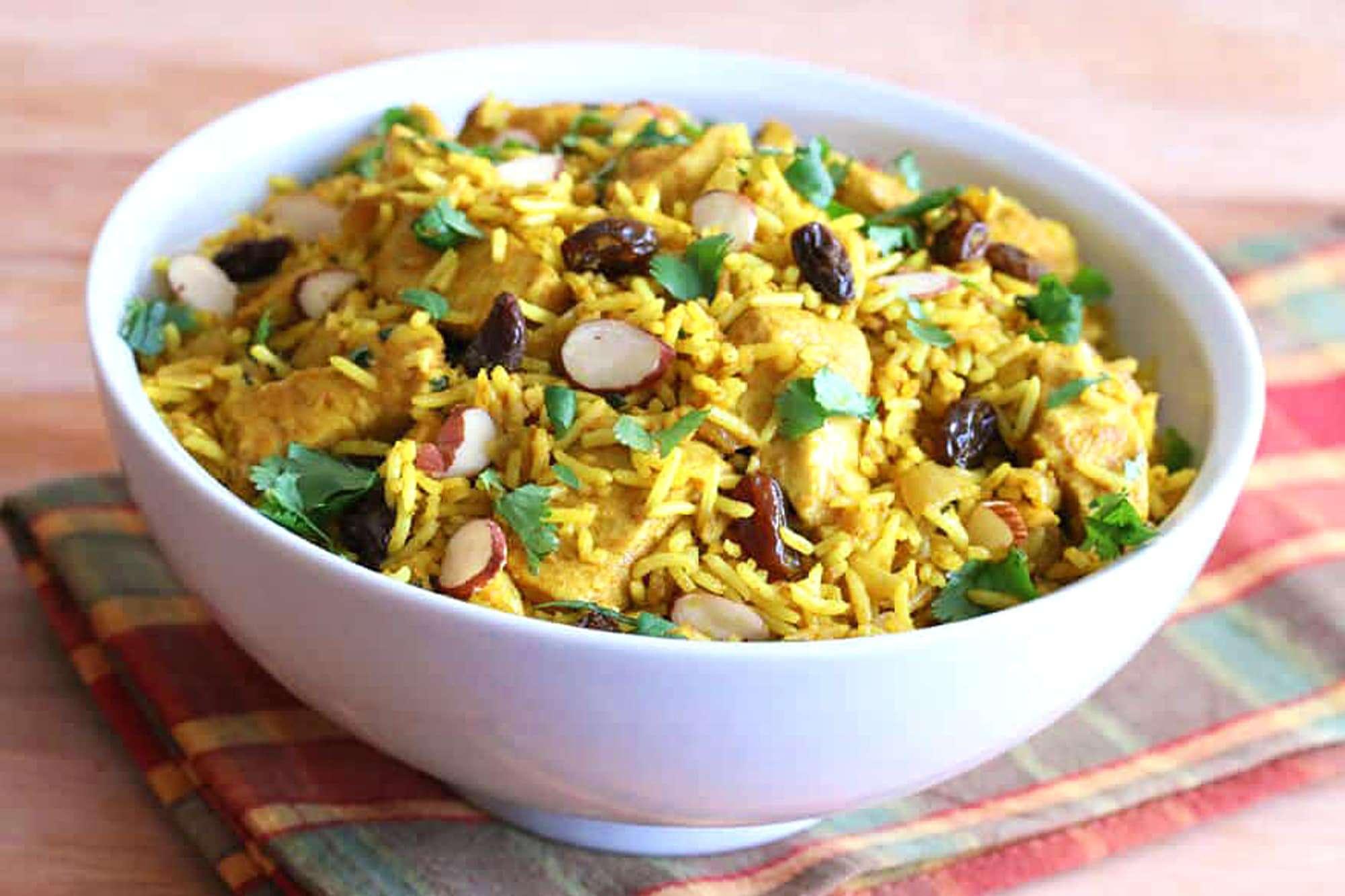 chicken biryani recipe easy fast Indian rice