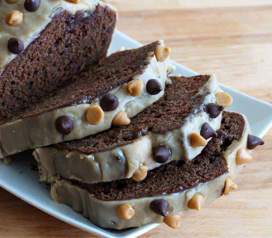 Double Chocolate Peanut Butter Banana Bread - The Daring Gourmet