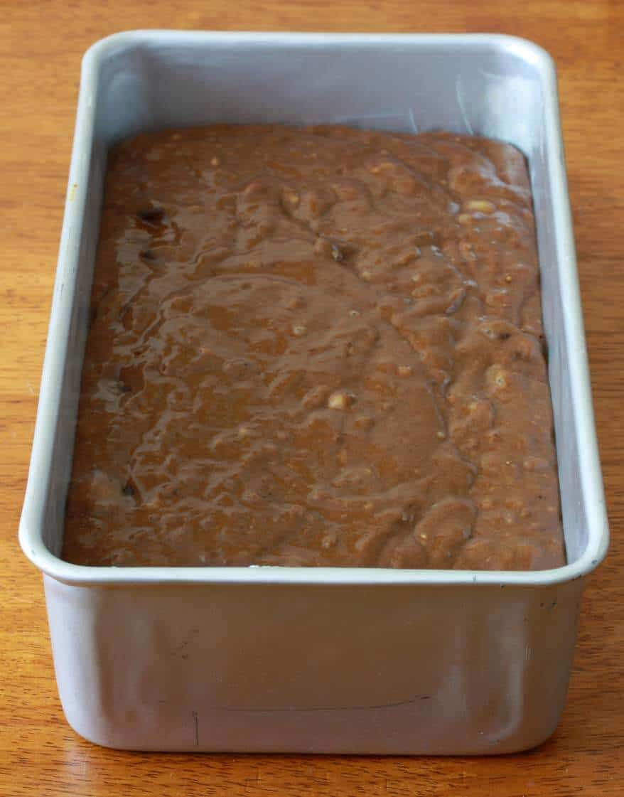 Chocolate Peanut Butter Banana Bread prep 5