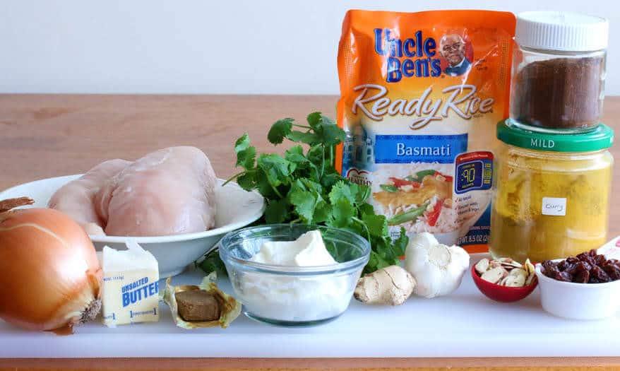 Easy Chicken Biryani prep 1
