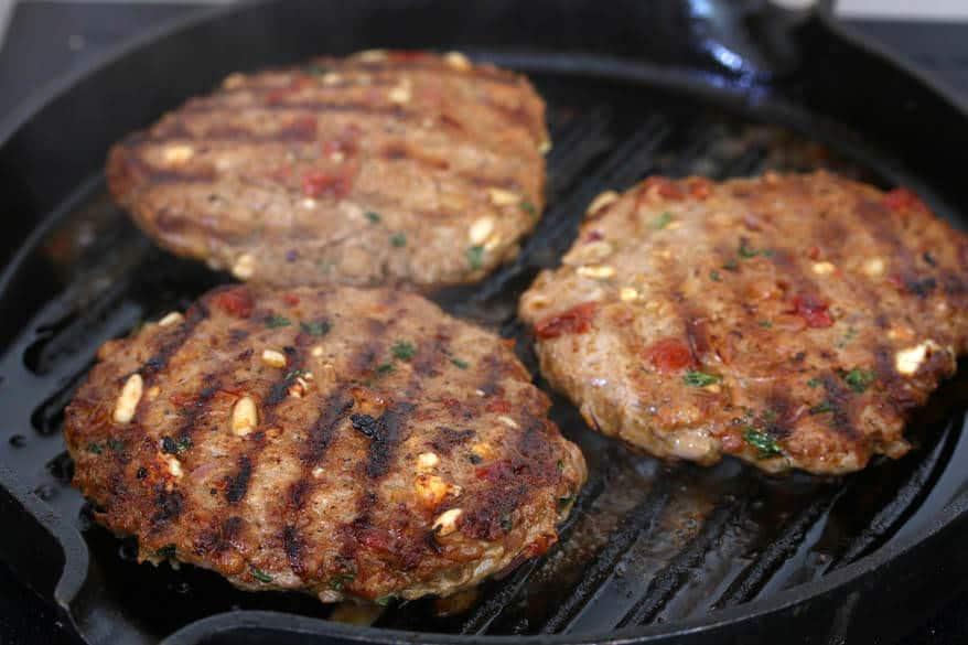 Greek Burgers prep 6