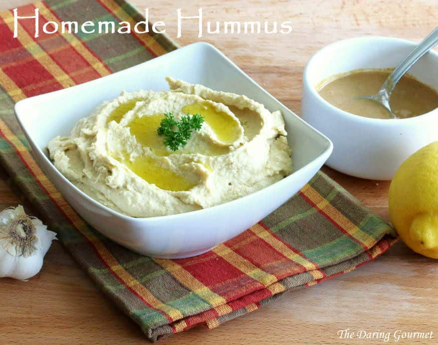 homemade hummus recipe garbanzo beans ta