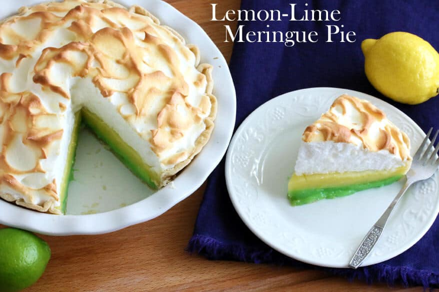 Lemon Lime Meringue Pie - The Daring Gourmet