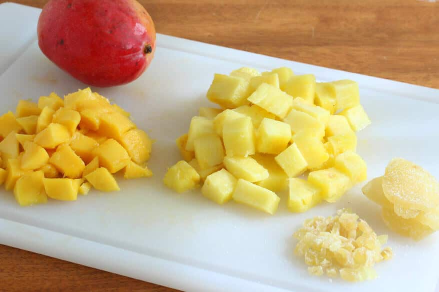 Mango Pineapple Crumble prep 1