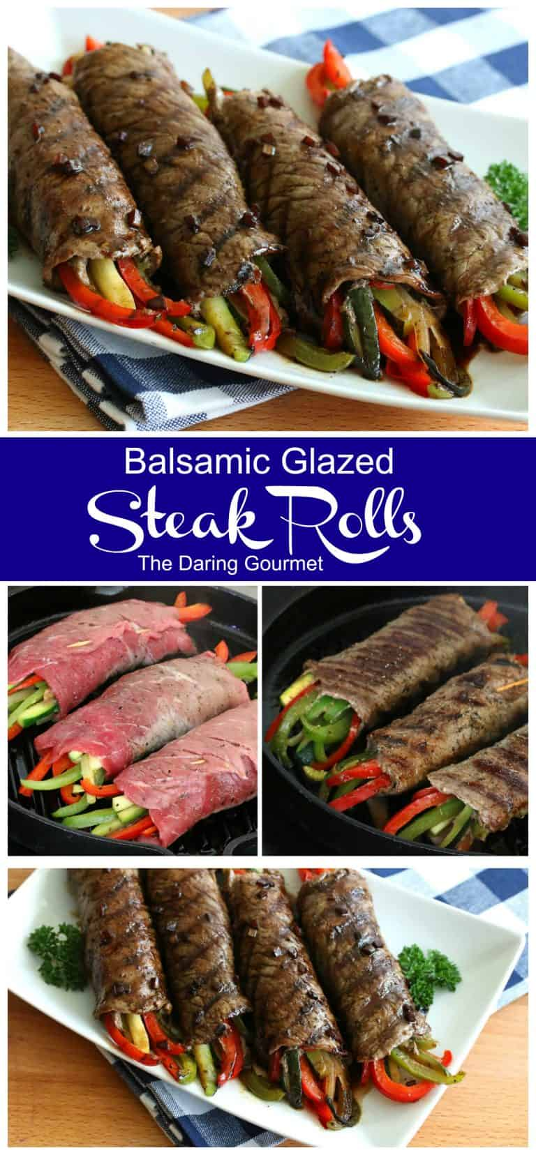 steak rolls recipe balsamic glazed