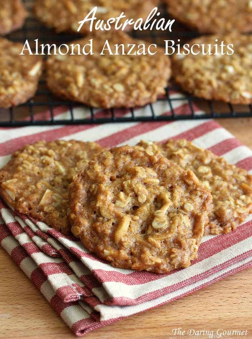 Australian anzac cookies recipe no eggs eggless almonds
