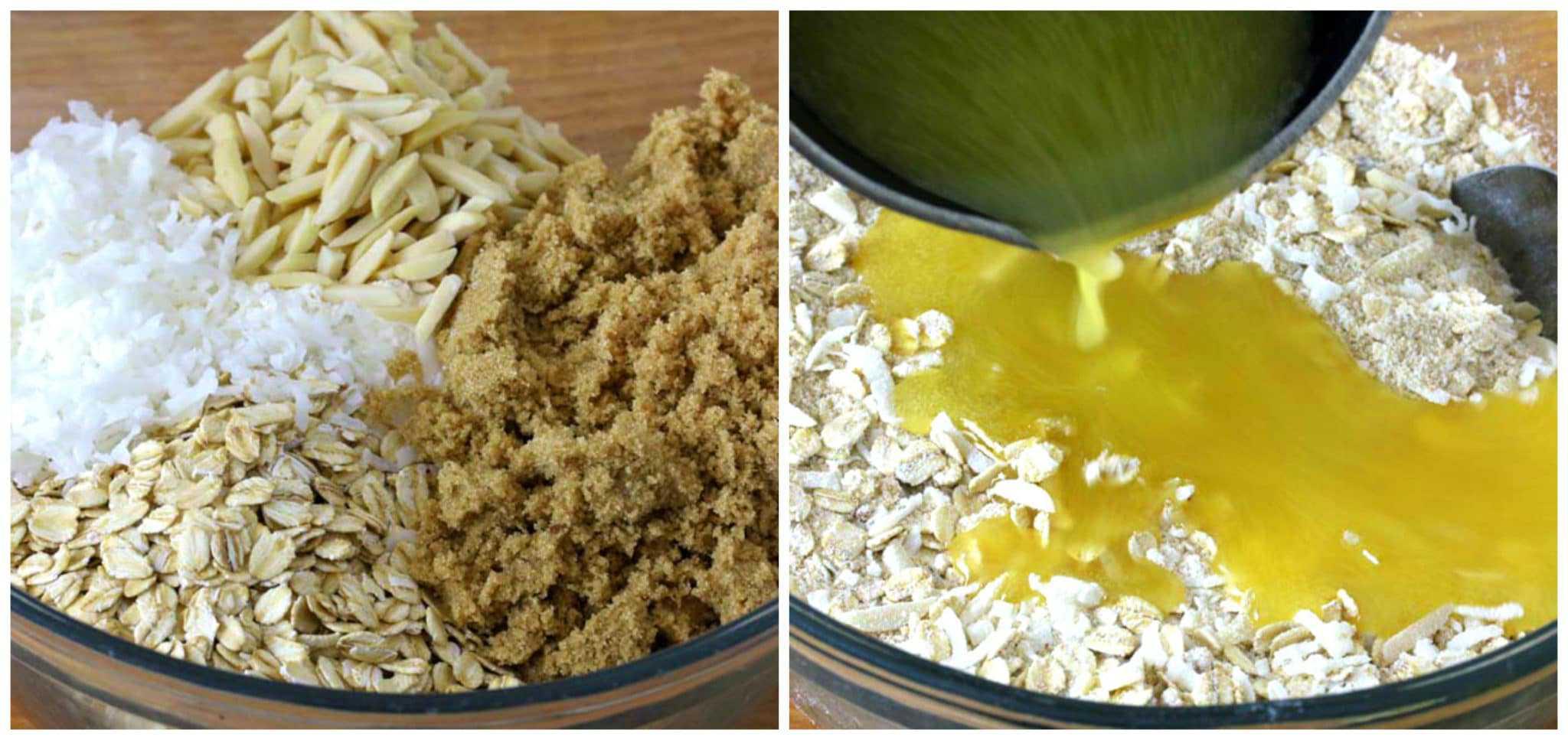 combining ingredients to make cookies
