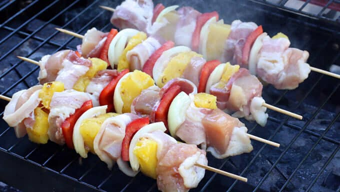 Bacon Pineapple Chicken Kabobs 5