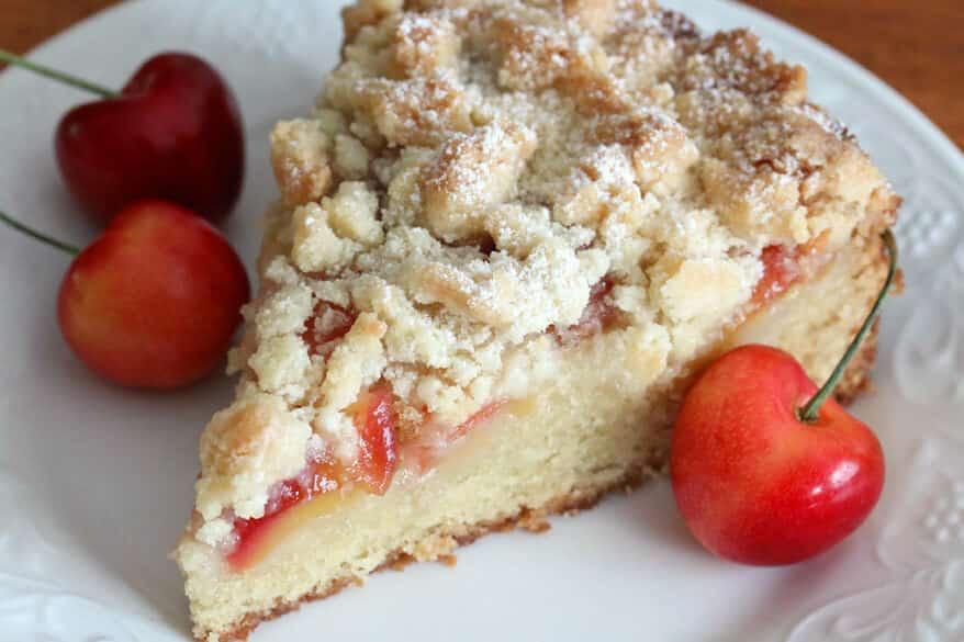 Cherry Almond Streusel Cake 10