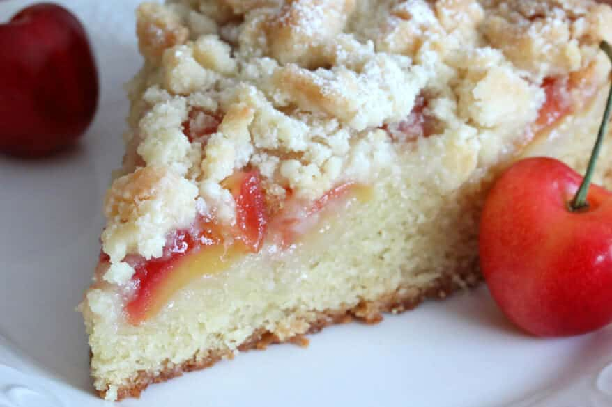Warm Almond-Cherry Cake Recipe — Dishmaps