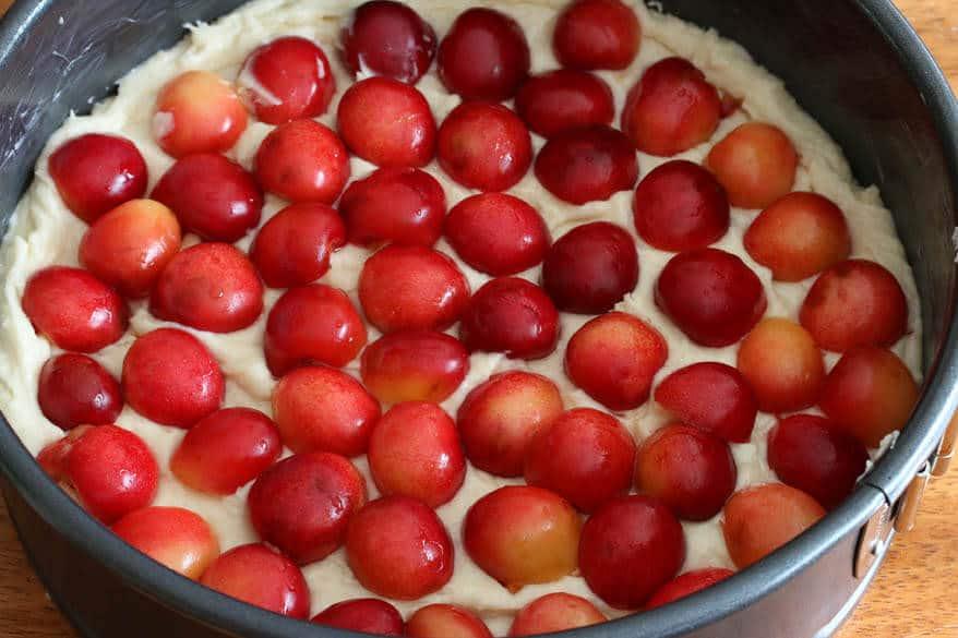Cherry Almond Streusel Cake prep 12