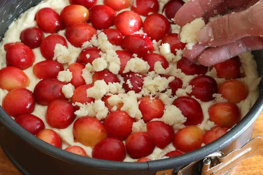 Cherry Almond Streusel Cake prep 17