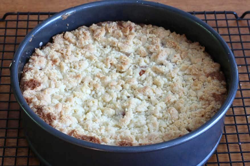 Cherry Almond Streusel Cake prep 19