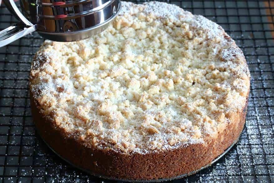 Cherry Almond Streusel Cake prep 21