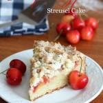 Cherry Marzipan Streusel Cake