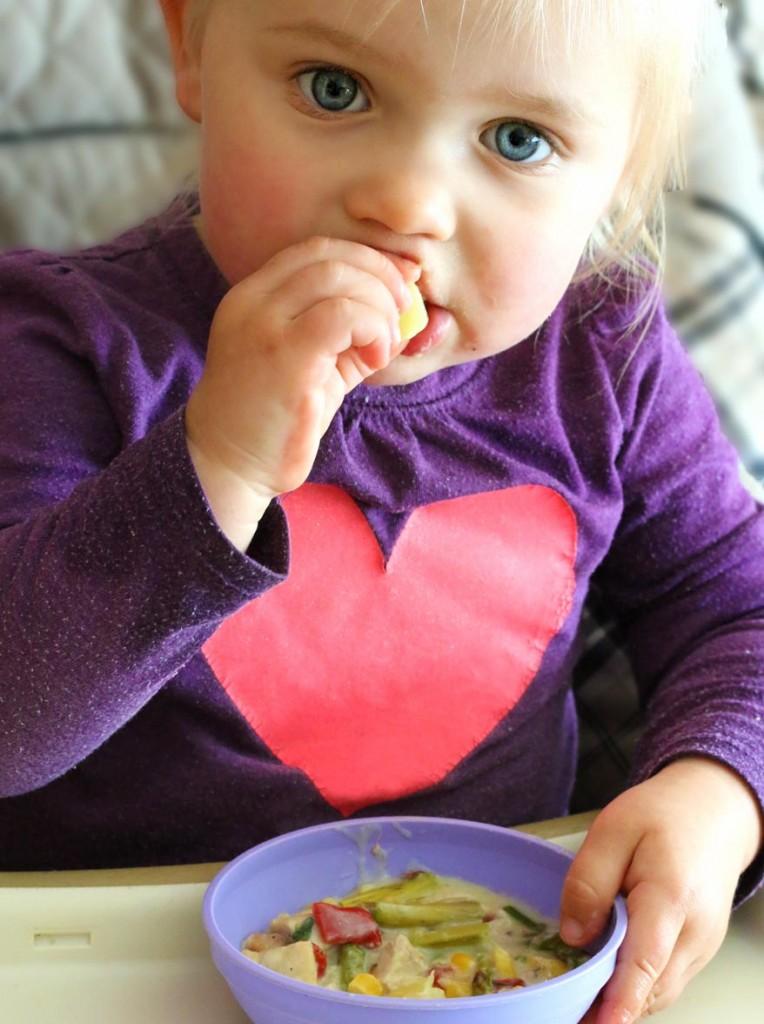 Chicken Asparagus Chowder prep 13