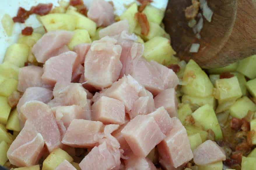 Chicken Asparagus Chowder prep 4