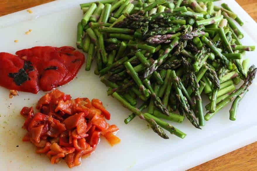 Chicken Asparagus Chowder prep 5