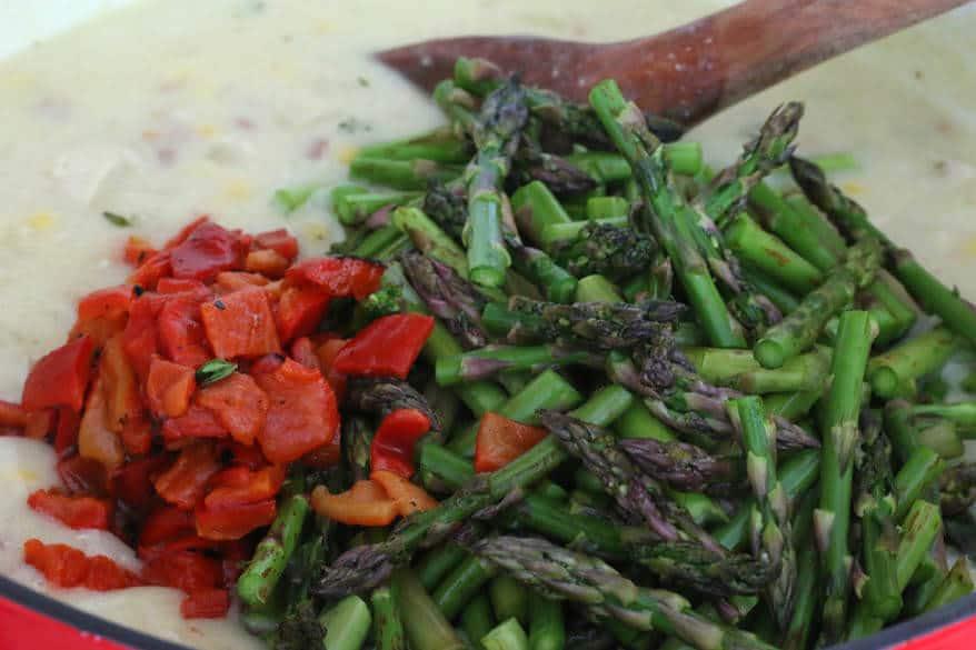 Chicken Asparagus Chowder prep 9
