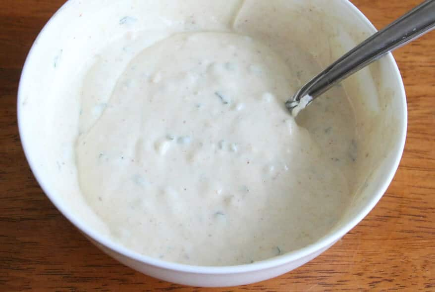 Chicken Kabobs with Tahini Yogurt Sauce prep 8