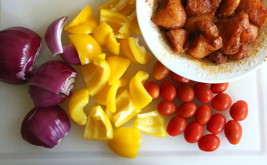 Chicken Kabobs with Tahini Yogurt Sauce prep 9