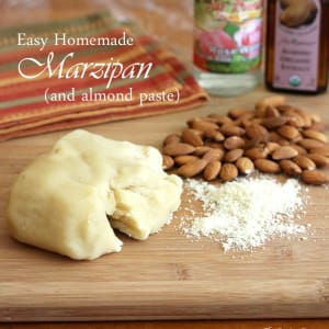 how to make marzipan almond paste recipe easy fast