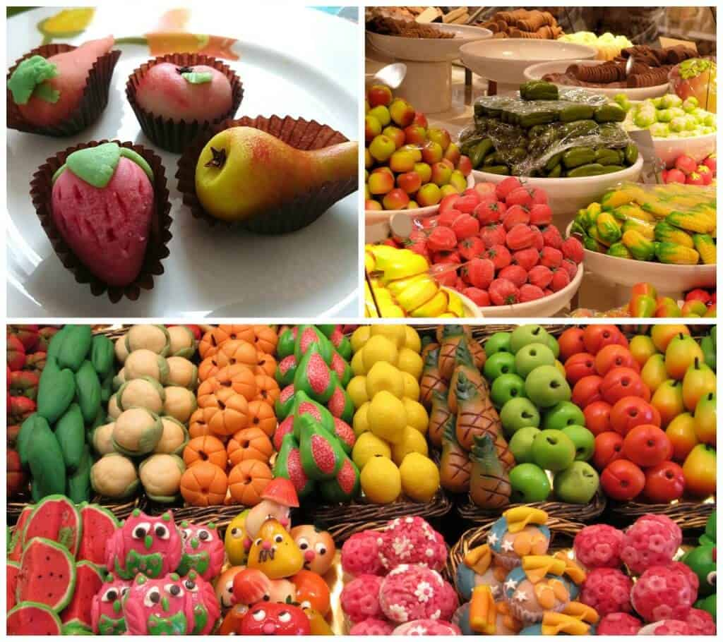 marzipan candy fruits