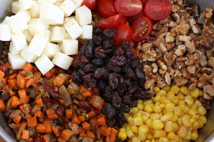 Mexican Wheat Berry Salad prep 10