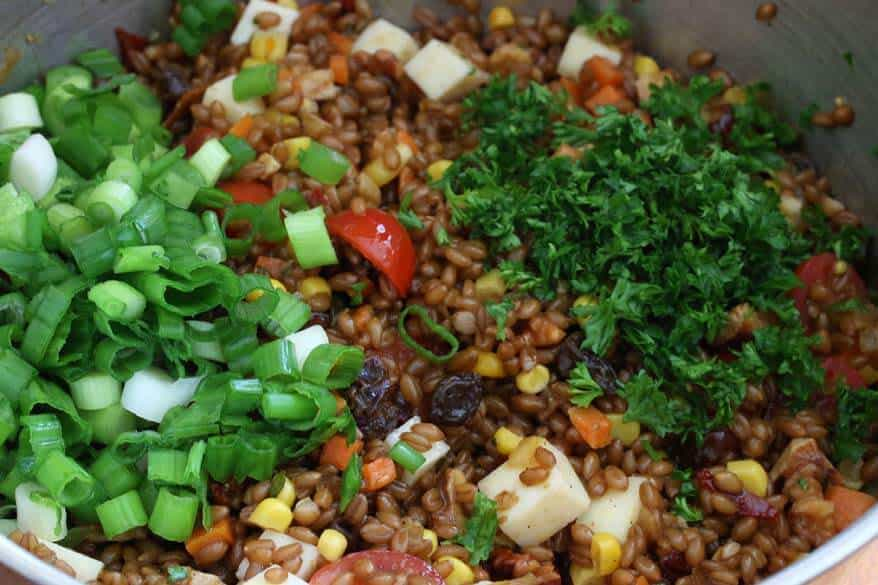Mexican Wheat Berry Salad prep 12