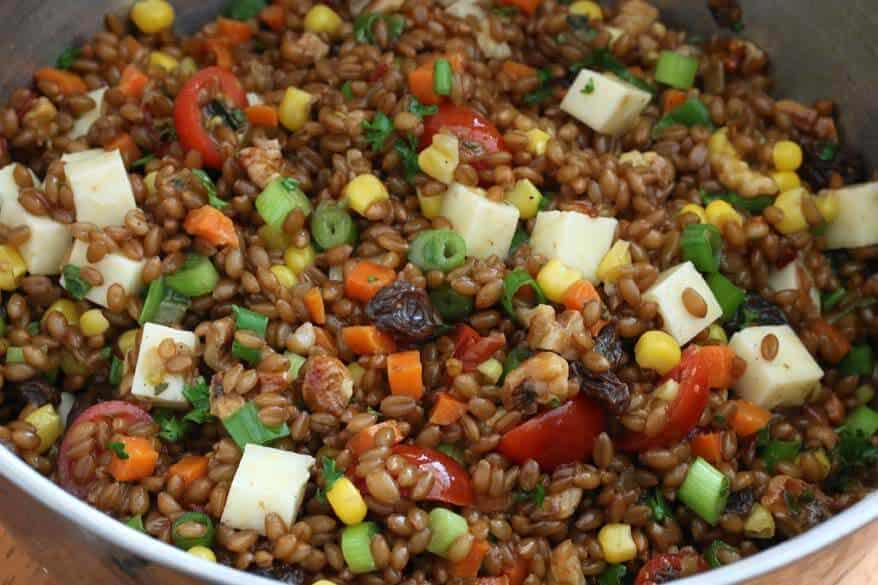 Mexican Wheat Berry Salad prep 13