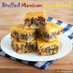 stuffed mexican cornbread recipe ground beef chipotles chorizo beans corn