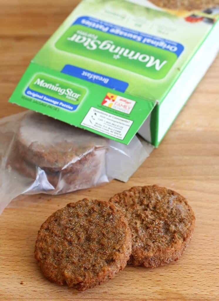 Vegetarian Sausage Gravy & Biscuits prep 1