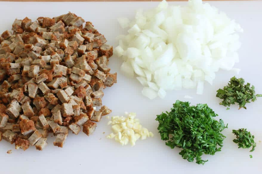 Vegetarian Sausage Gravy & Biscuits prep 4