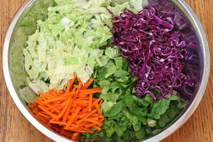 Asian Chicken Salad prep 2