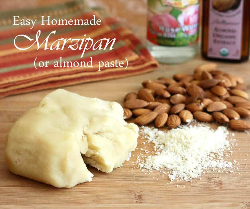 homemade marzipan almond paste recipe easy fast simple how to make