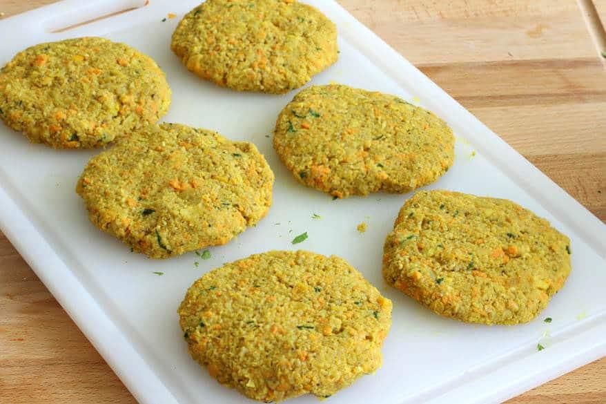 Moroccan Veggie Burgers prep 13