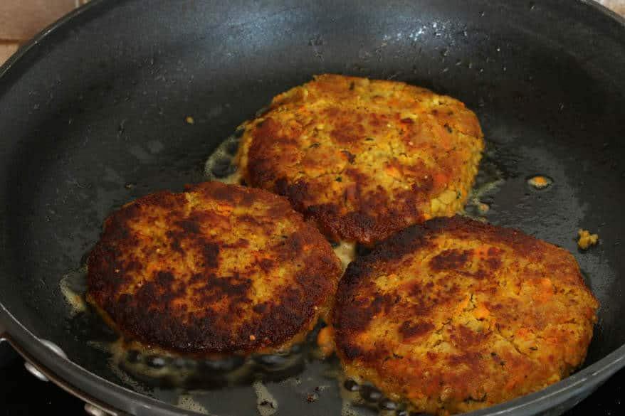 Moroccan Veggie Burgers prep 15