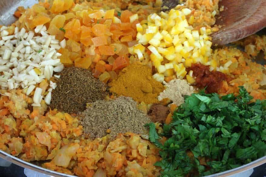 Moroccan Veggie Burgers prep 6