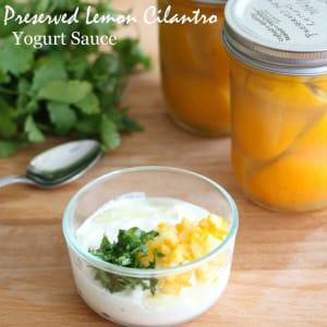 preserved lemon cilantro yogurt sauce recipe