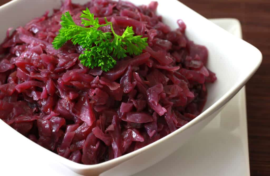 homemade german rotkohl recipe rezept authentic traditional sweet sour red cabbage