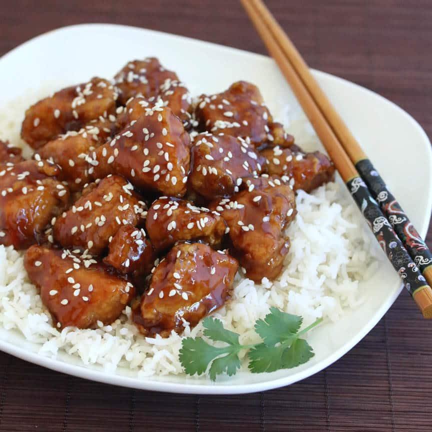 Honey Sesame Chicken - The Daring Gourmet