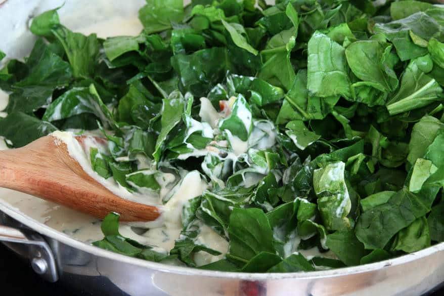 Spinach Artichoke Pasta prep 9