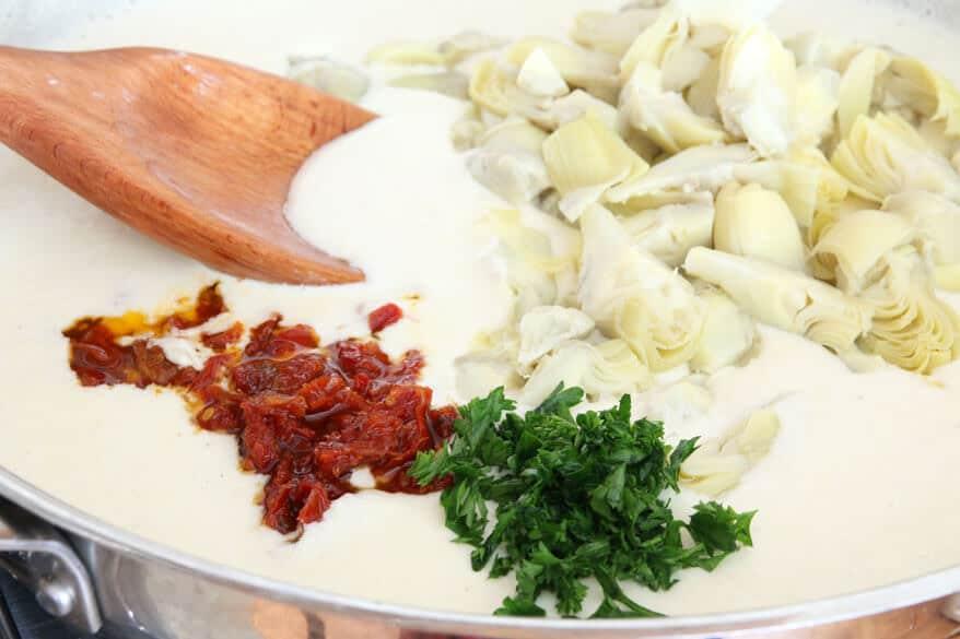 Spinach Artichoke Pasta prep7
