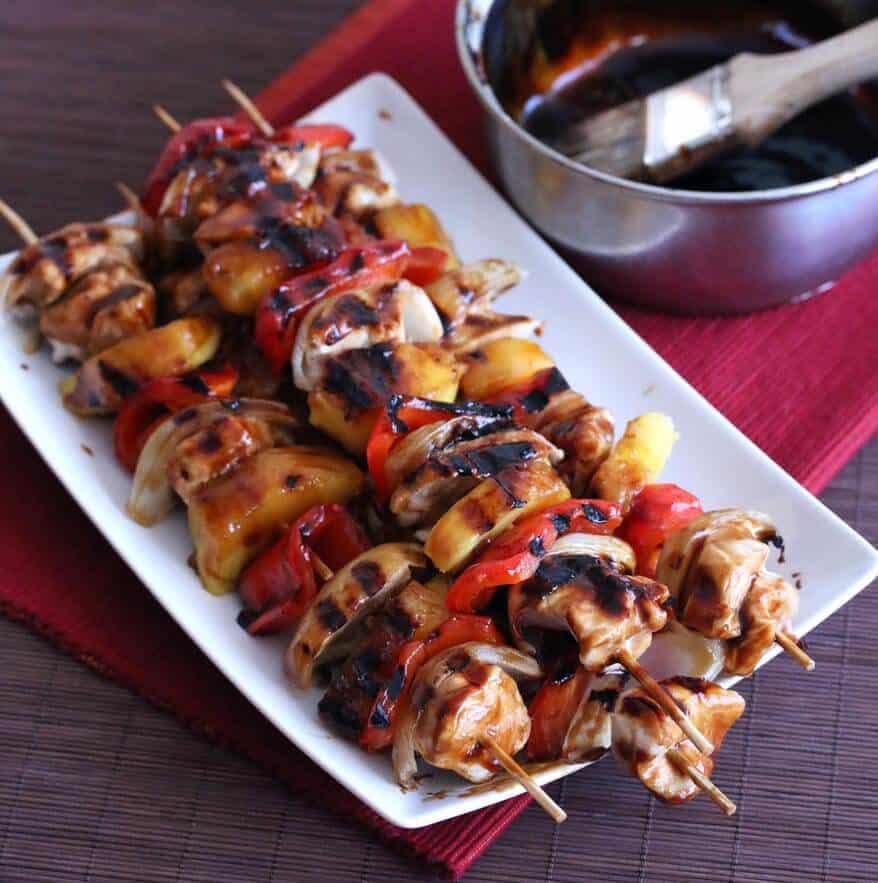 Teriyaki Pineapple Chicken KabobsThe Daring Gourmet