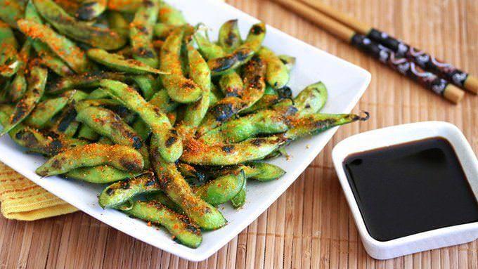 grilled spicy edamame recipe