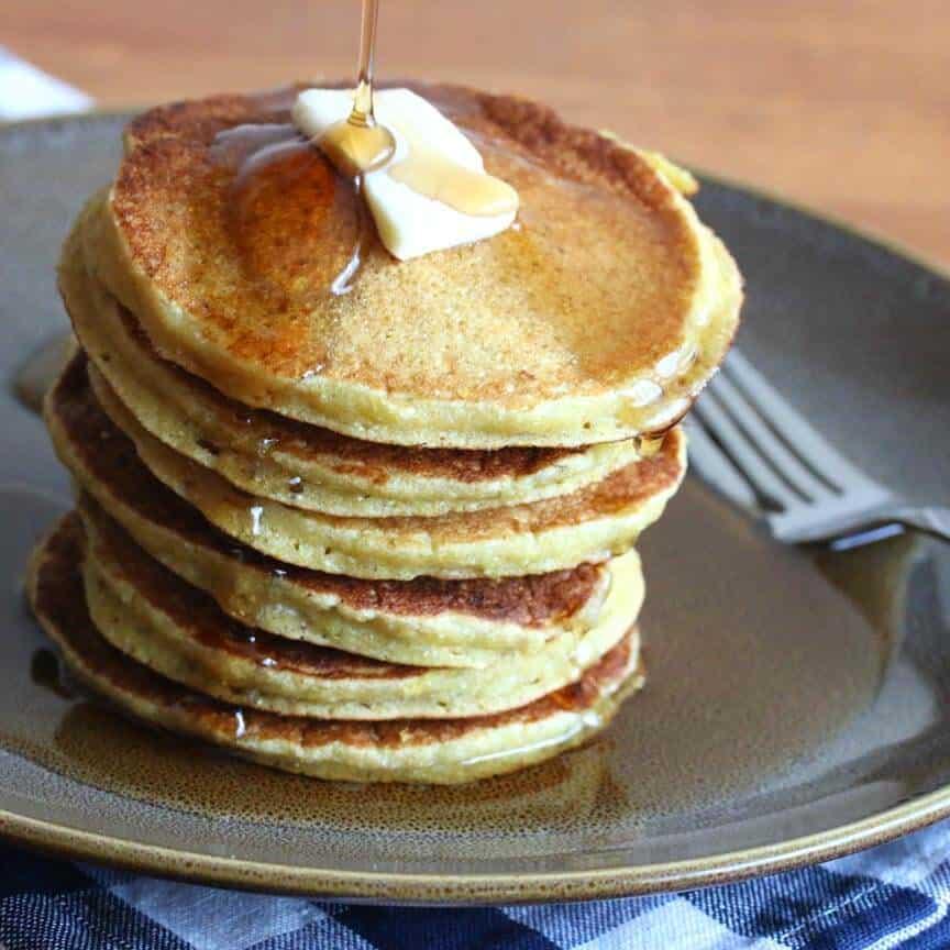 peach buttermilk cornmeal pancakes recipe