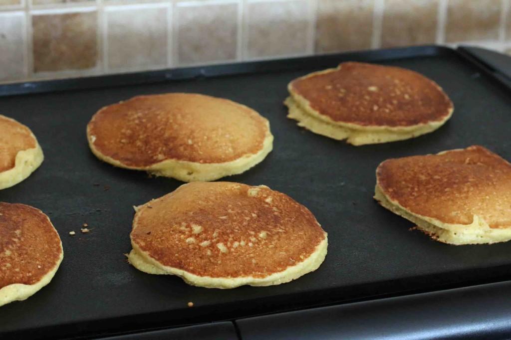 Peach Cornmeal Pancakes prep 10