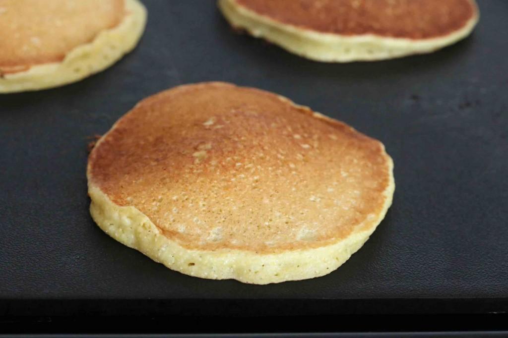 Peach Cornmeal Pancakes prep 11